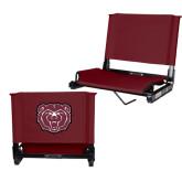 Stadium Chair Maroon-Bear Head