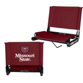 Stadium Chair Maroon-Bear Head Missouri State Stacked