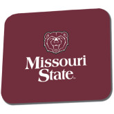 Full Color Mousepad-Bear Head Missouri State Stacked
