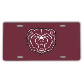 License Plate-Bear Head