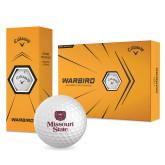 Callaway Warbird Golf Balls 12/pkg-Bear Head Missouri State Stacked