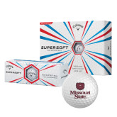 Callaway Supersoft Golf Balls 12/pkg-Bear Head Missouri State Stacked
