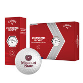 Callaway Chrome Soft Golf Balls 12/pkg-Bear Head Missouri State Stacked