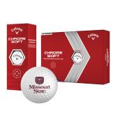 Callaway Chrome Soft Golf Balls 12/pkg-Bear Head Missouri State Stacked