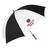 62 Inch Black/White Umbrella-Bear Head Missouri State Stacked