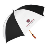62 Inch Black/White Umbrella-Missouri State University Stacked w/ Bear Head