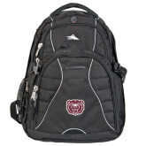 High Sierra Swerve Black Compu Backpack-Bear Head