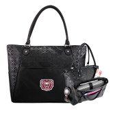 Sophia Checkpoint Friendly Black Compu Tote-Bear Head