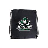 Black Drawstring Backpack-Official Logo