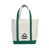 Contender White/Dark Green Canvas Tote-Official Logo