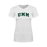 Next Level Ladies SoftStyle Junior Fitted White Tee-Arched UMM