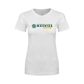 Next Level Ladies SoftStyle Junior Fitted White Tee-University of Maine Machias Naturally