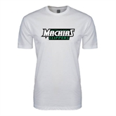 Next Level SoftStyle White T Shirt-Maine Machias Clippers