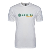 Next Level SoftStyle White T Shirt-University of Maine Machias Naturally