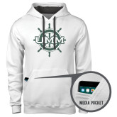 Contemporary Sofspun White Hoodie-UMM Ships Wheel