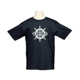 Youth Black T Shirt-UMM Ships Wheel