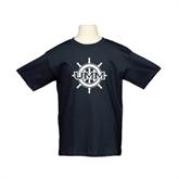 Youth Black T Shirt-UMM Ships Wheel