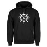 Black Fleece Hoodie-UMM Ships Wheel