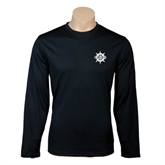 Performance Black Longsleeve Shirt-UMM Ships Wheel