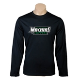 Performance Black Longsleeve Shirt-Maine Machias Clippers