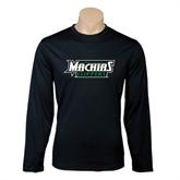 Syntrel Performance Black Longsleeve Shirt-Maine Machias Clippers