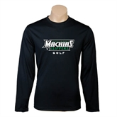 Performance Black Longsleeve Shirt-Golf