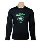 Performance Black Longsleeve Shirt-Design on Ball