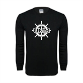 Black Long Sleeve TShirt-UMM Ships Wheel