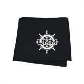 Black Sweatshirt Blanket-UMM Ships Wheel