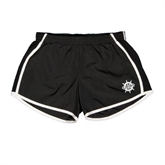 Ladies Black/White Team Short-UMM Ships Wheel