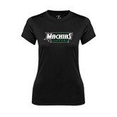 Ladies Syntrel Performance Black Tee-Maine Machias Clippers