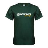 Dark Green T Shirt-University of Maine Machias Naturally