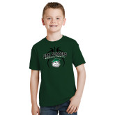 Youth Dark Green T Shirt-Design in Ball