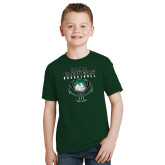 Youth Dark Green T Shirt-Design on Ball