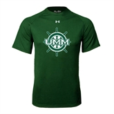 Under Armour Dark Green Tech Tee-UMM Ships Wheel