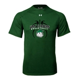 Under Armour Dark Green Tech Tee-Design in Ball