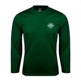 Syntrel Performance Dark Green Longsleeve Shirt-UMM Ships Wheel