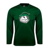 Performance Dark Green Longsleeve Shirt-Clipper Head