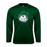Syntrel Performance Dark Green Longsleeve Shirt-Clipper Head