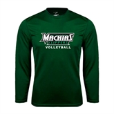 Syntrel Performance Dark Green Longsleeve Shirt-Volleyball
