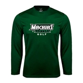 Syntrel Performance Dark Green Longsleeve Shirt-Golf