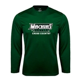 Performance Dark Green Longsleeve Shirt-Cross Country