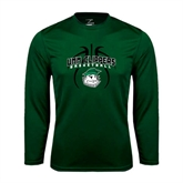 Performance Dark Green Longsleeve Shirt-Design in Ball