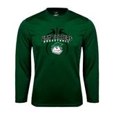 Syntrel Performance Dark Green Longsleeve Shirt-Design in Ball