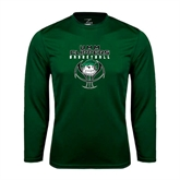 Performance Dark Green Longsleeve Shirt-Design on Ball