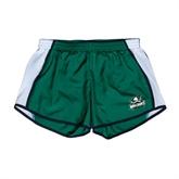 Ladies Dark Green/White Team Short-Official Logo
