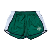 Ladies Dark Green/White Team Short-UMM Ships Wheel