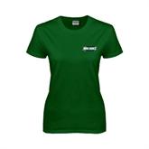 Ladies Dark Green T Shirt-Maine Machias Clippers