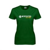 Ladies Dark Green T Shirt-University of Maine Machias Naturally