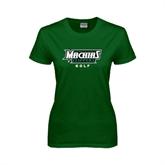 Ladies Dark Green T Shirt-Golf
